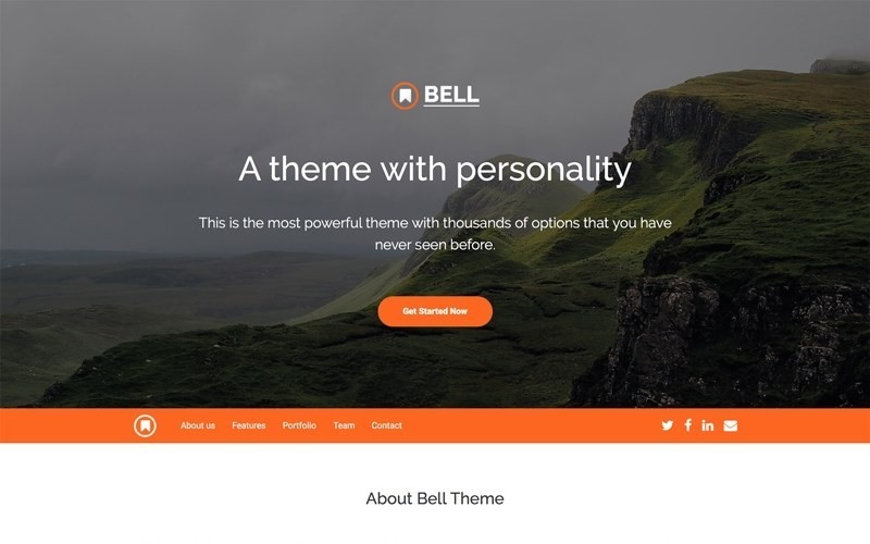 """bootstrap templates """"Bell Bootstrap 4 Template"""""""