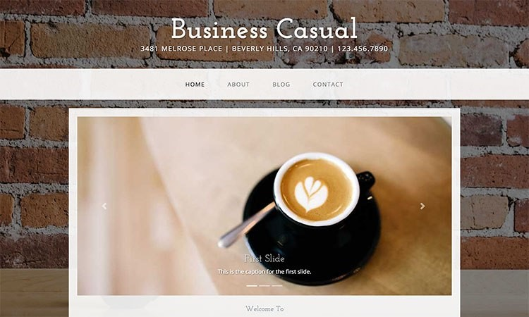 "bootstrap templates ""Business Casual"""