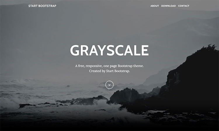 """bootstrap templates """"GreyScale"""""""
