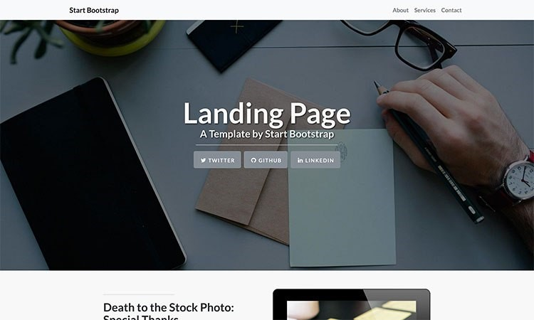 """bootstrap templates """"Landing Page"""""""